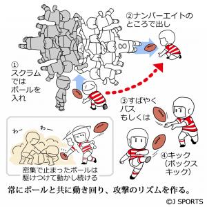 スクラムハーフの説明図2