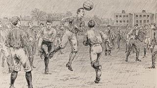 サッカー発祥時のイラスト