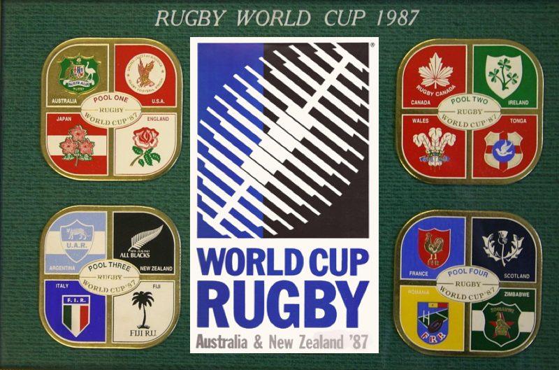 第1回ラグビーワールドカップのポスター