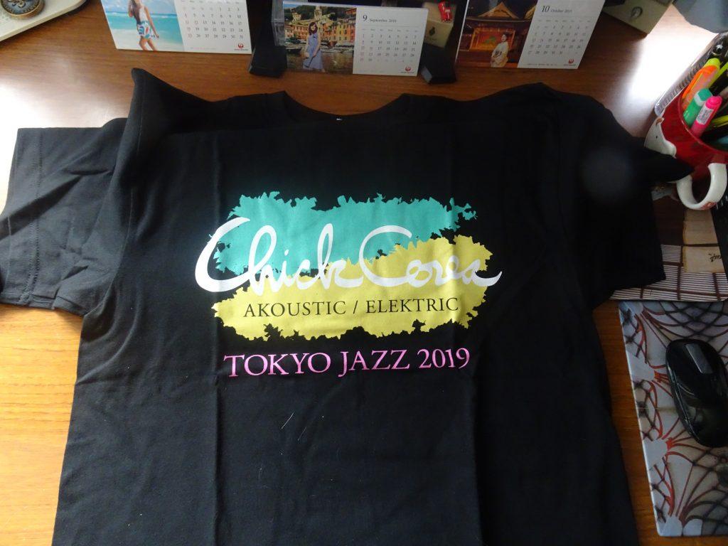 買ってきたチックコリアの記念Tシャツ