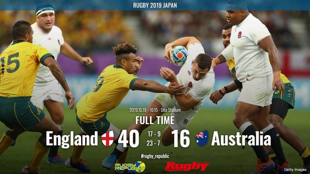 イングランド対オーストラリアの結果表