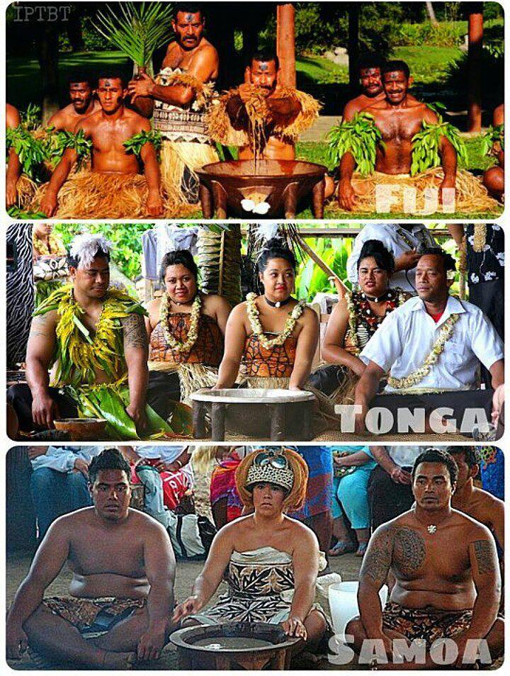 フィジー トンガ サモアの人たち