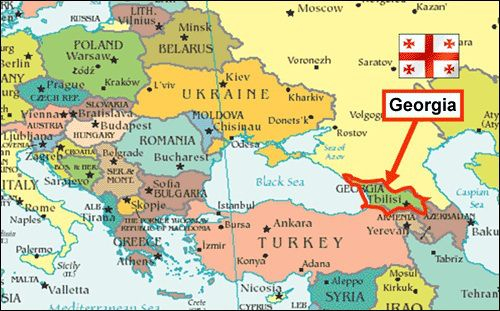 ジョージアの位置を示す地図
