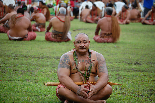 体の大きなサモア人の写真
