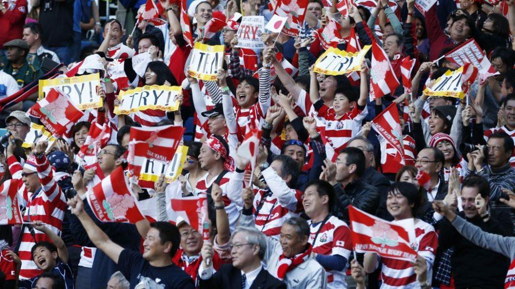 ジャパンを応援するたくさんのファン