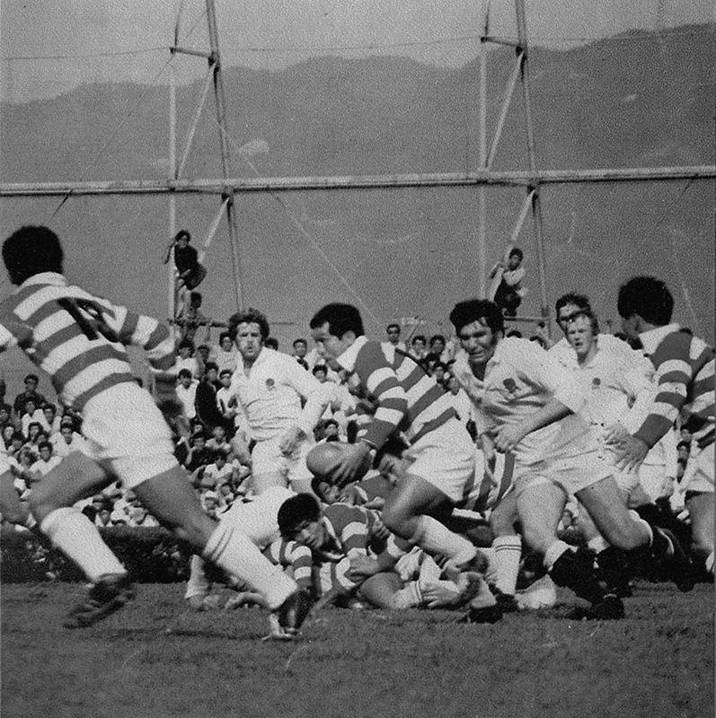 1971年のイングランド対日本の試合の様子