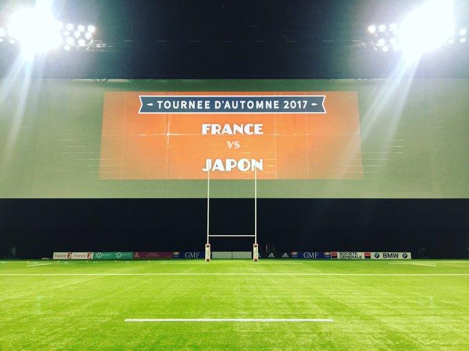 2017年にフランスとジャパンが戦ったときの写真