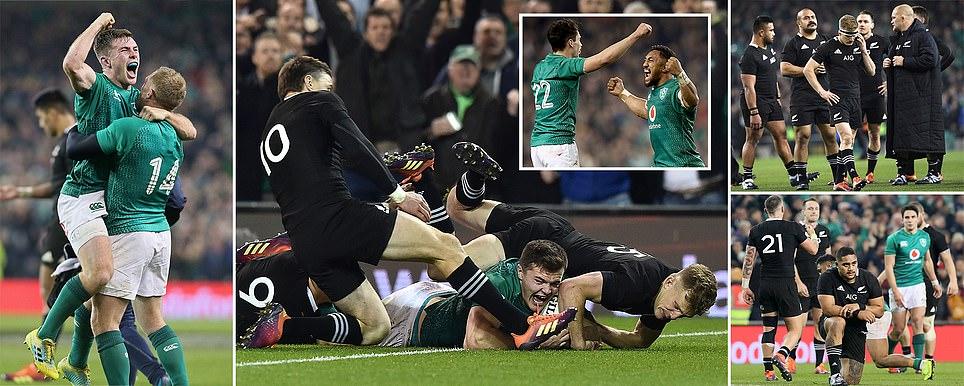アイルランドとオールブラックスの過去の戦績の表