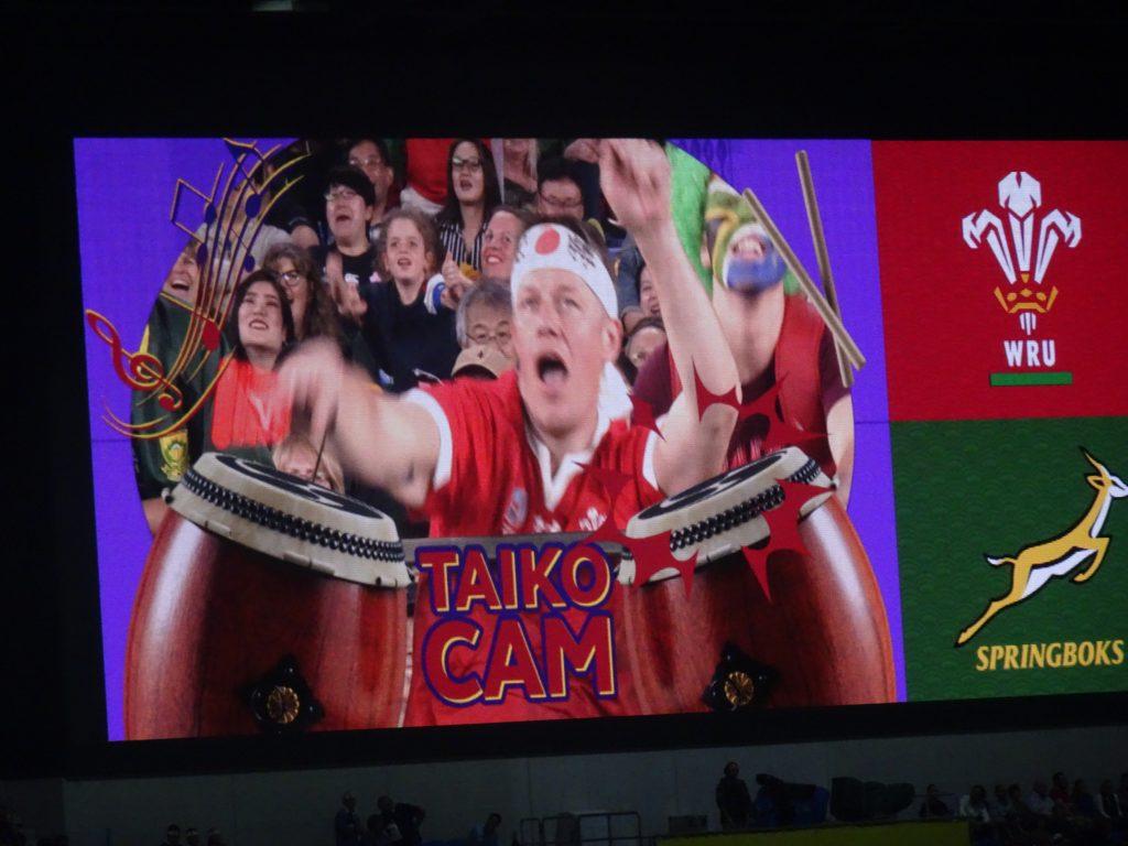 スクリーンに映されたTAIKO CAM