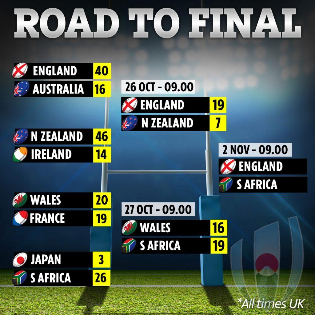 イングランド vs スプリングボクス戦のポスター