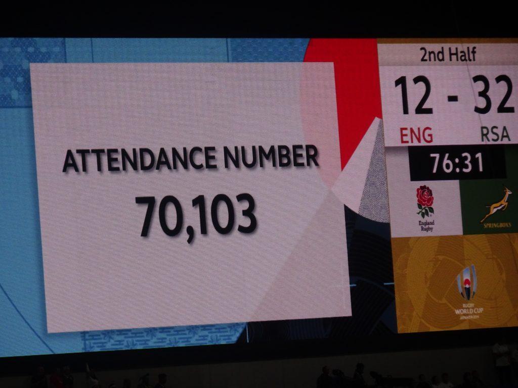 観客数を示すスクリーン