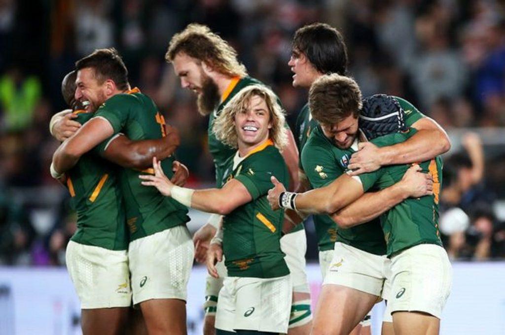 大喜びの南アフリカの選手たち