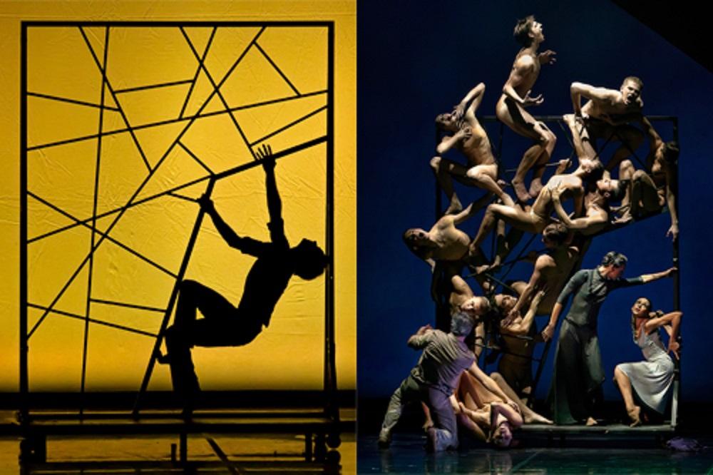 ダンサーの肉体を使って表現された彫刻作品