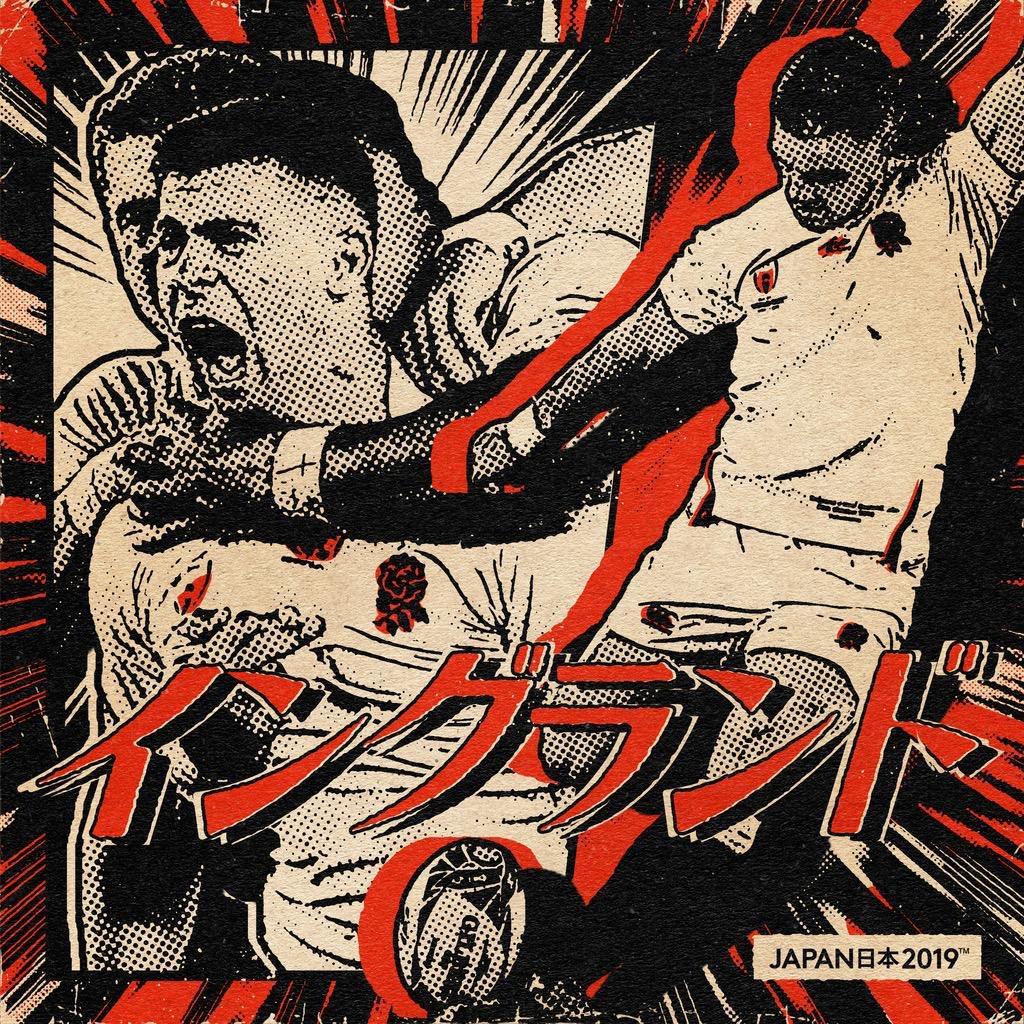 イングランドチームのポスター