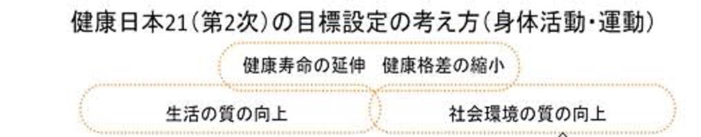 「健康日本21」の目標を説明した図