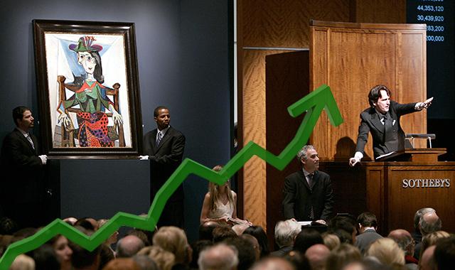 競売でアート作品を競り落とす金融業者