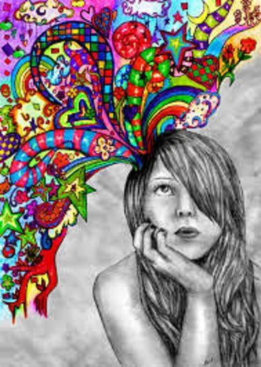 アイデアを考える芸術家