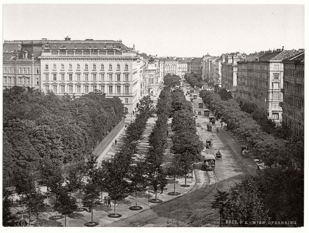 19世紀末のウイーンの街並み