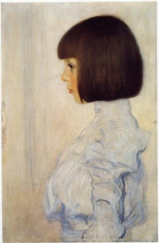 エミーリエ・フレーゲの17歳の頃の肖像画