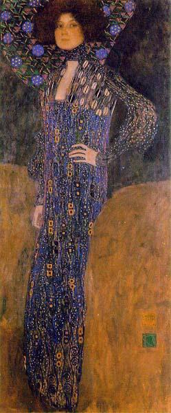 エミーリエ・フレーゲの28歳の肖像画