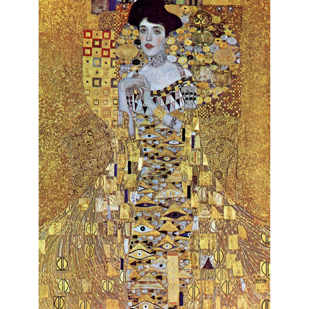 黄金様式で描かれた女性像