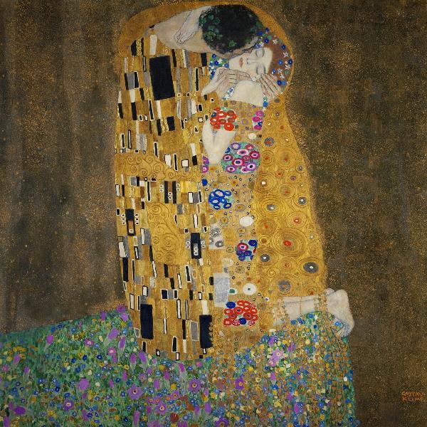 黄金様式で描かれた女性