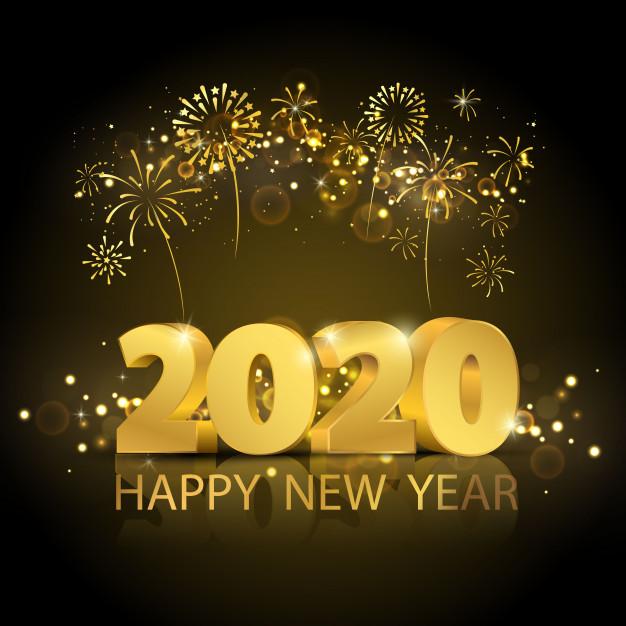 2020年を祝う飾り