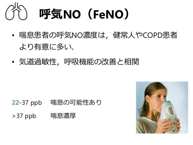 呼気中一酸化窒素濃度 FeNOについて説明する図