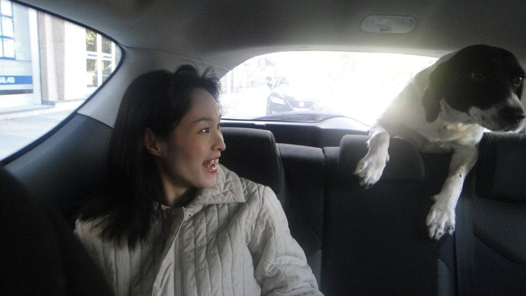 車内でのキアラちゃん