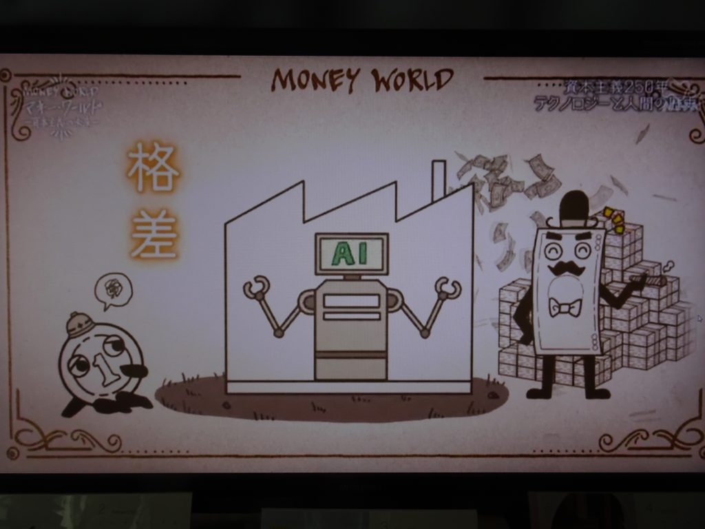AIによる第4次産業革命による経済格差を説明する図