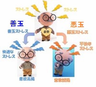 善玉 悪玉ストレスの説明図