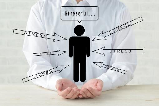 ストレスの積み重ねを説明する図