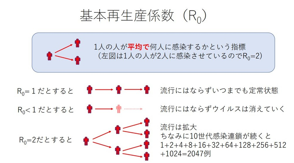 基本再生産数について説明する図
