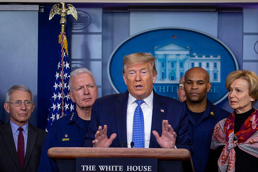記者会見するトランプ大統領