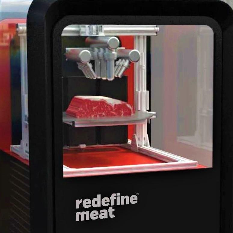 植物肉を本物の肉の形に造形する3Dプリンター