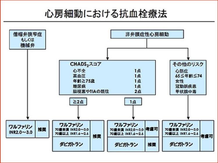 予防的抗血栓療法について説明した図
