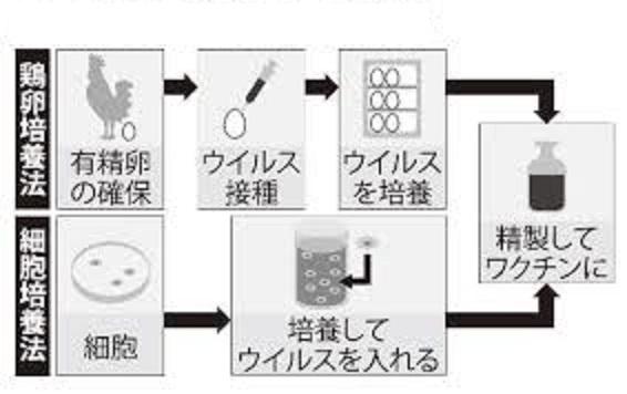 弱毒化ワクチンの製造過程を示す図