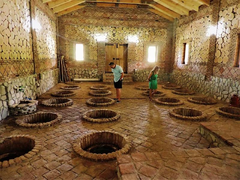 クヴェヴリが埋められた醸造所