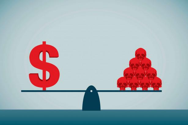 コロナと経済のバランスを示す図