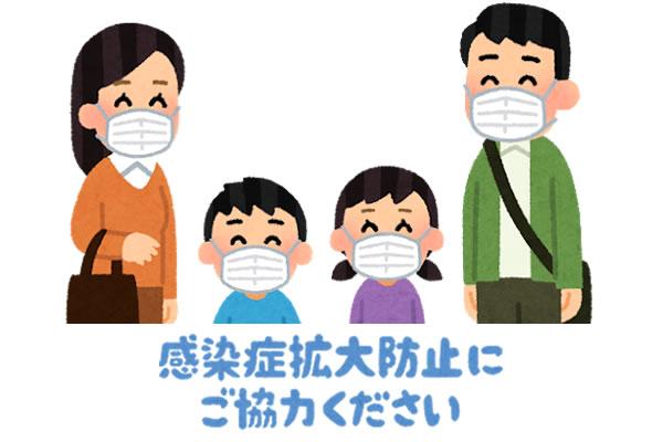 マスク対策を訴えるイラスト