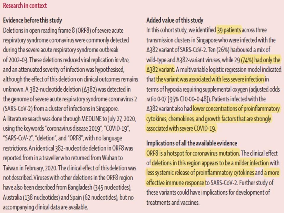 Lancetに掲載された論文の骨子