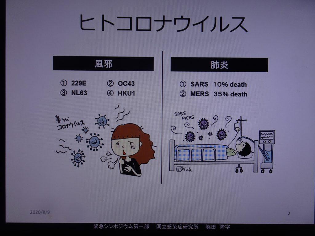さまざまな種類のコロナウイルスを示した図