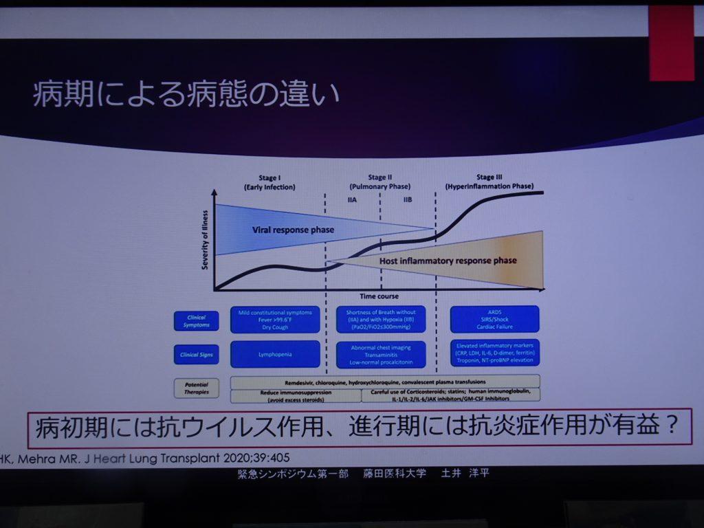 病期による治療法の違いを示すスライド