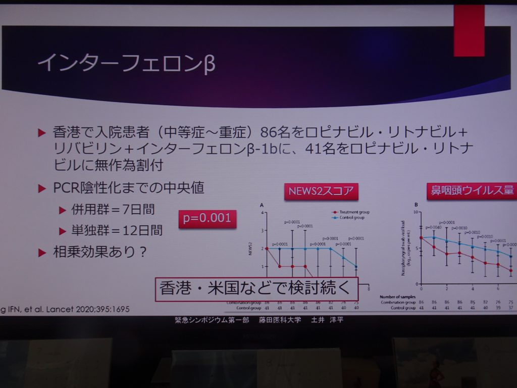 インターフェロンの効果についてまとめた図表
