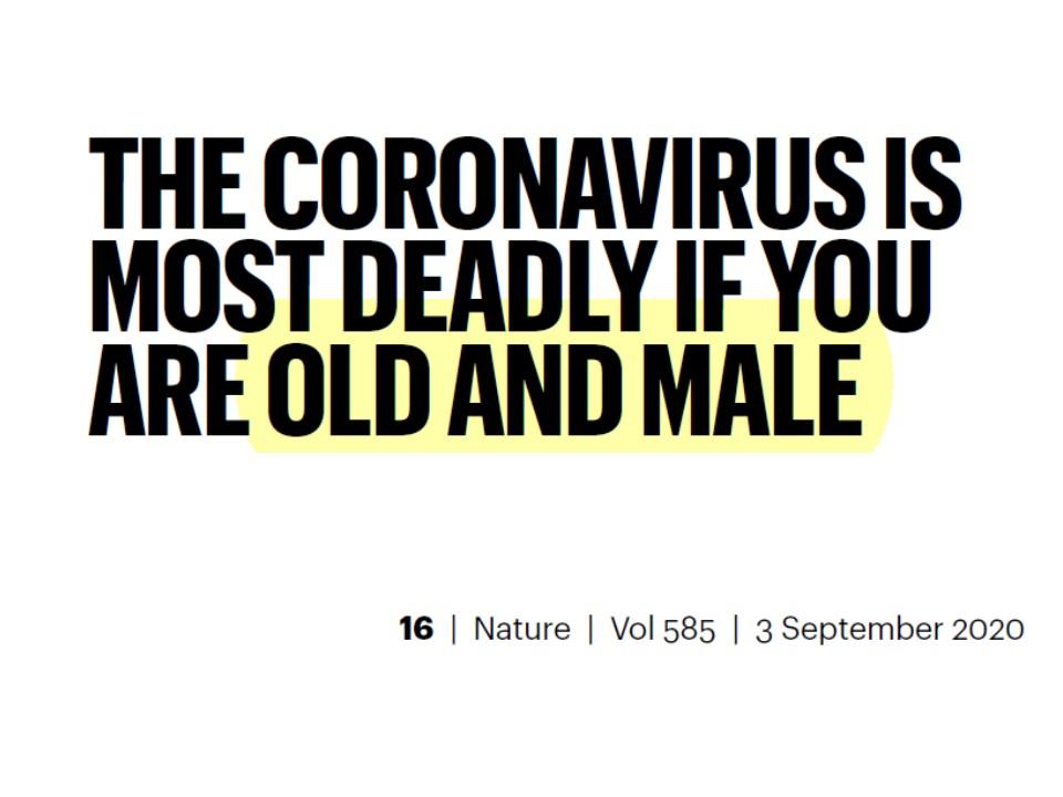 新型コロナ・男性と高齢者は重症化する