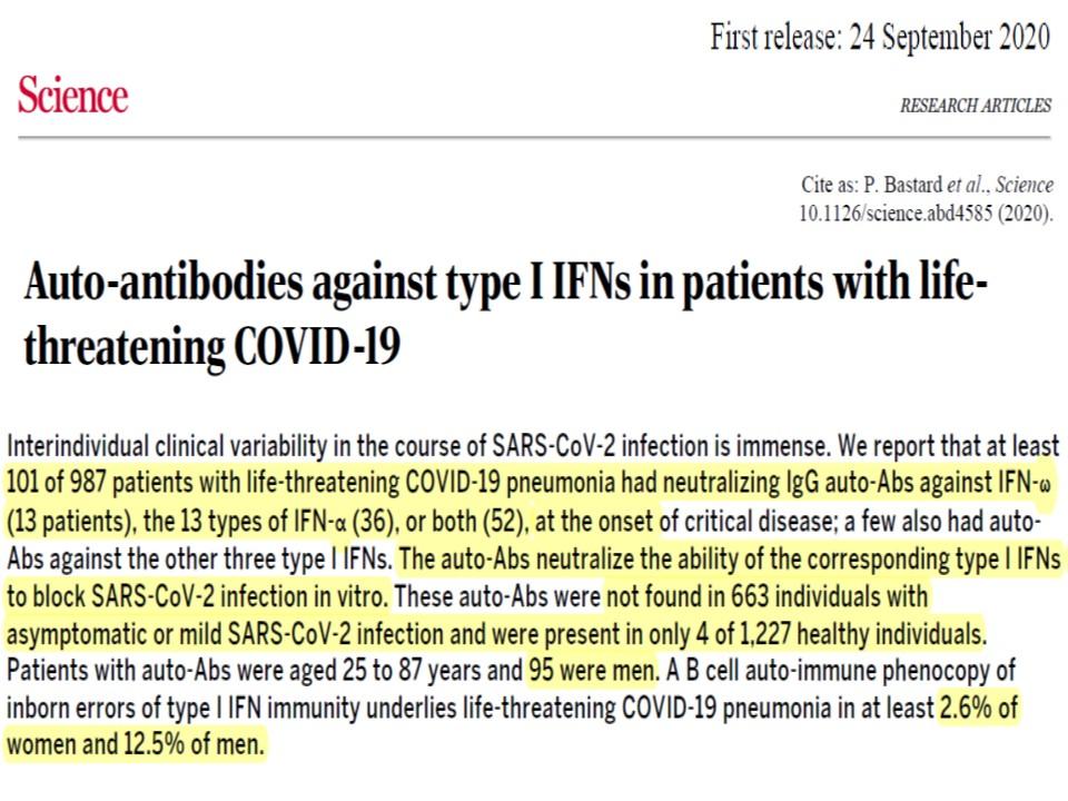 インターフェロンαに対する自己抗体に関する研究論文の表紙