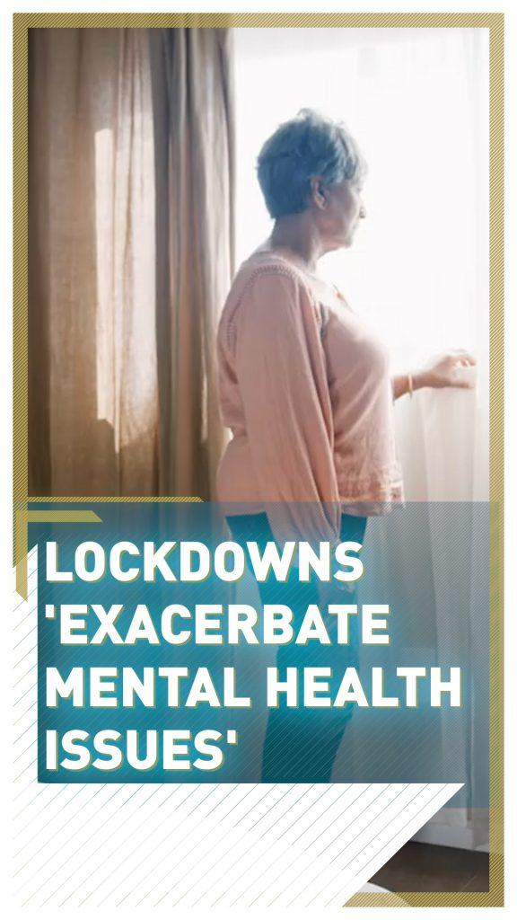 ロックダウンによる鬱の注意喚起をするポスター