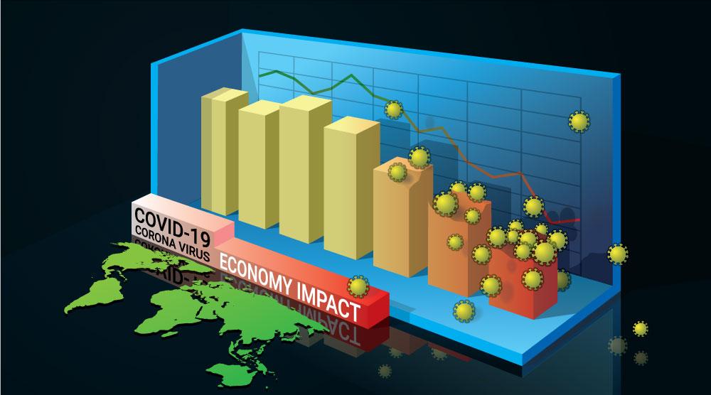ロックダウンが経済を痛めつけることを示すグラフ