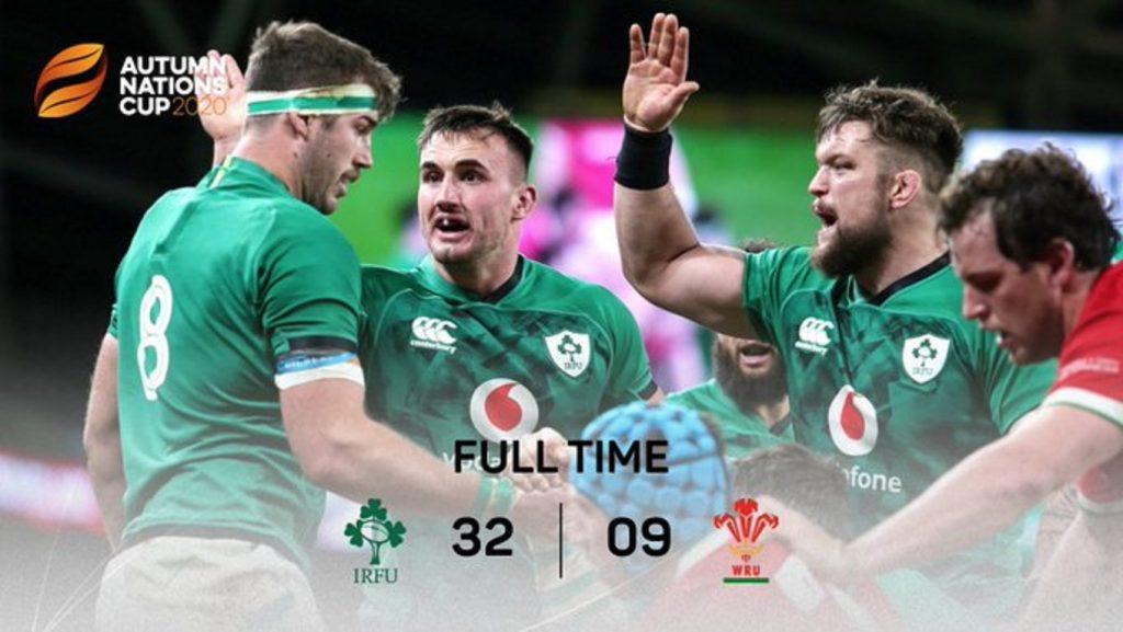 アイルランドの勝利を示す最終スコア