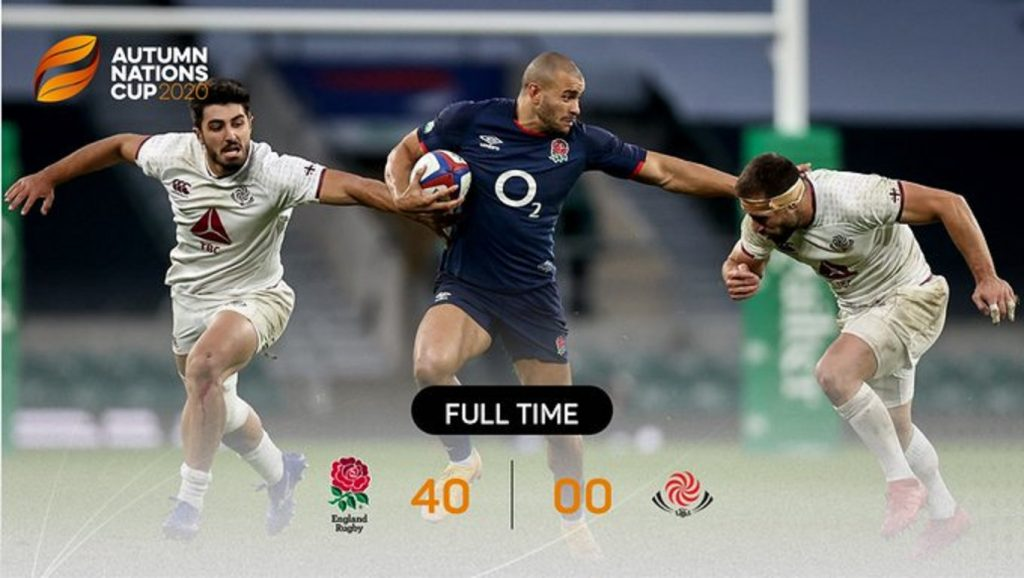 イングランドの勝利を示す最終スコア